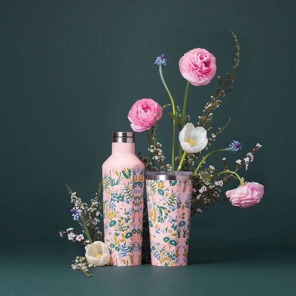 Rifle Paper Co. x Corkcicle's Flower-Covered Water Bottle Collection Is Seriously Stunning