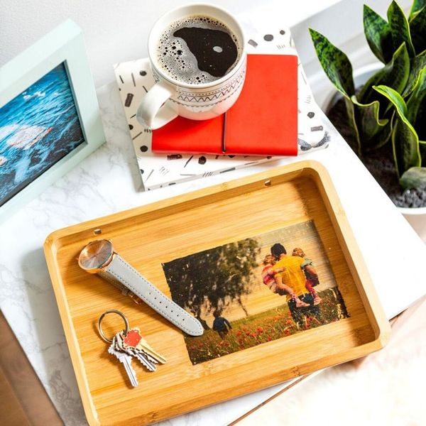 Celebrate Dad With a Personalized DIY Photo Tray