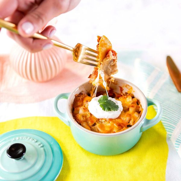 Single-Serve This King Ranch Chicken Casserole for a Party of One