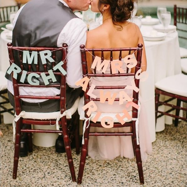 12 Wedding Chair Signs That Say It All