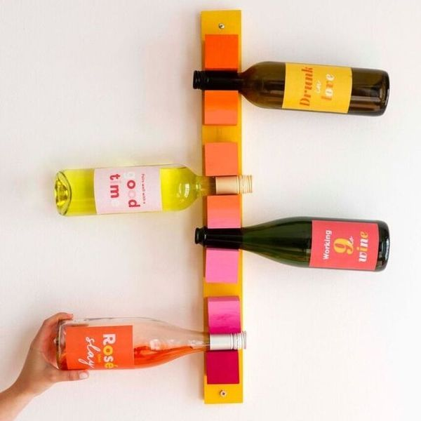 Celebrate National Wine Day With This Colorful Wine Rack DIY