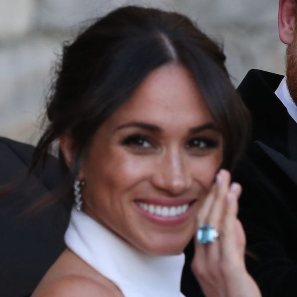 """Meghan Markle's """"Something Blue"""" at the Royal Wedding Reception Came from Princess Diana"""