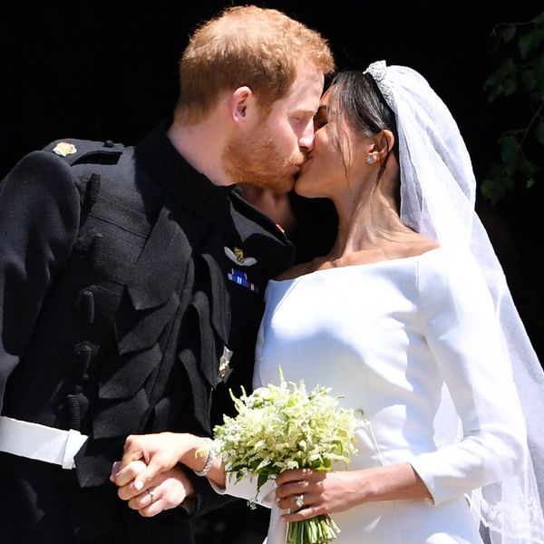 Prince Harry and Meghan Markle Share Their First Kiss as Newlyweds