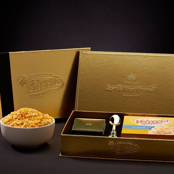 Here's How to Snag A Free Box Of Velveeta's Limited Edition Crowns & Cheese Before the Royal Wedding