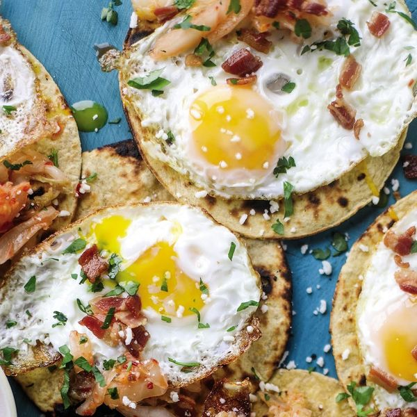 Kimchi Bacon Breakfast Tacos Will Give You Plenty of Reason to Jump Out of Bed