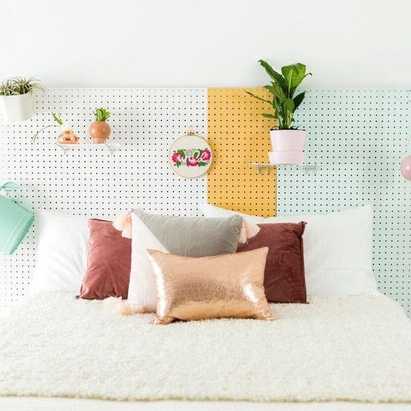 This Pegboard Headboard DIY Will Tie Your Entire Room Together