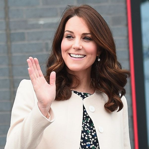 Royal Baby Preparations Are Under Way Outside Duchess Kate Middleton's Hospital Wing
