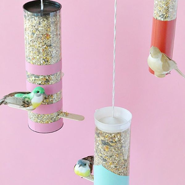 11 Colorful Bird Feeders You Can DIY