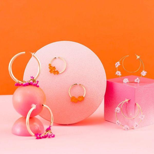 DIY Floral Hoop Earrings Fit for Any Festival