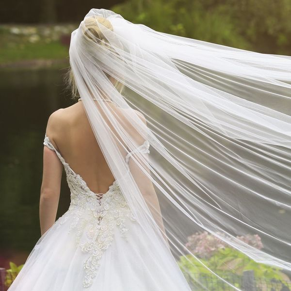 The Next Big Thing in Bridal Hair Accessories Is… Flying Veils?!