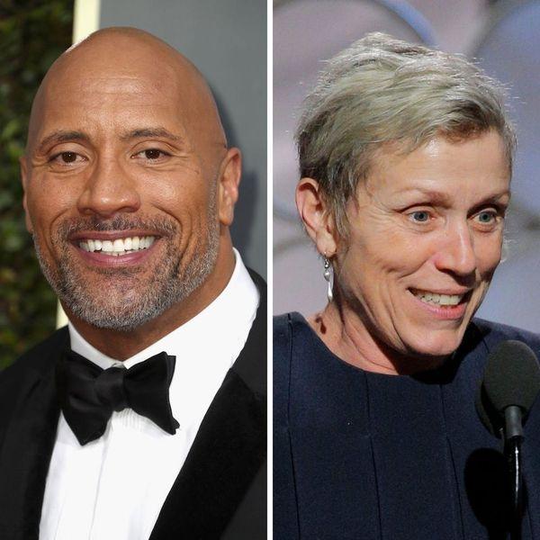 Dwayne Johnson's Golden Globes Story About Frances McDormand Makes Us Love Her Even More