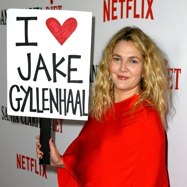 This Is Why Drew Barrymore Had an 'I *Heart* Jake Gyllenhaal' Sign on the Red Carpet