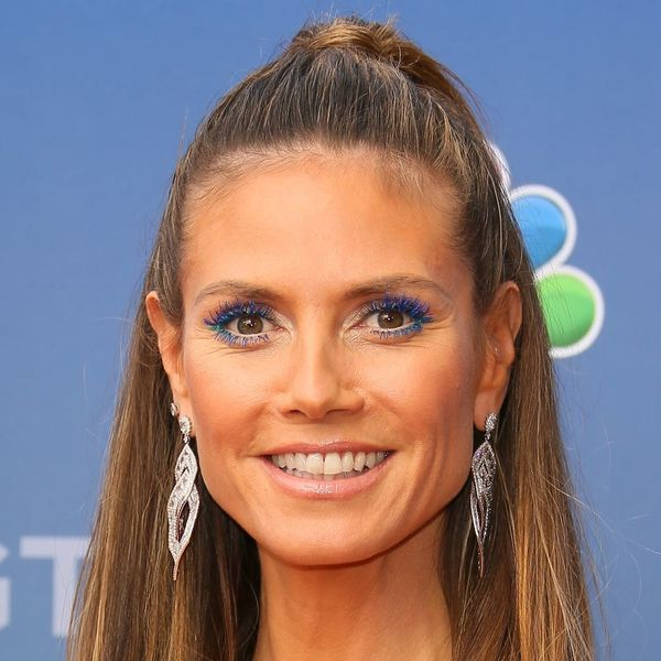 Heidi Klum's Electric Blue Mascara Is All the Beauty Inspo You'll Need This Spring