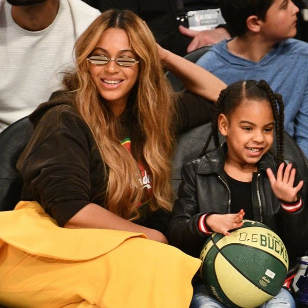Beyoncé and Blue Ivy Twinned in Golden Gowns Inspired by Royalty