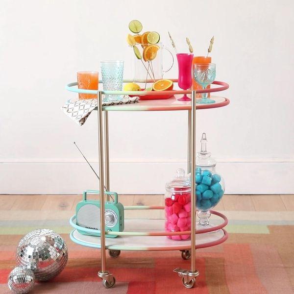 How to DIY the Rainbow Bar Cart of Your Dreams