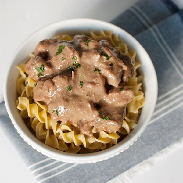 Make This Slow-Cooker Beef Stroganoff With Just 4 Ingredients