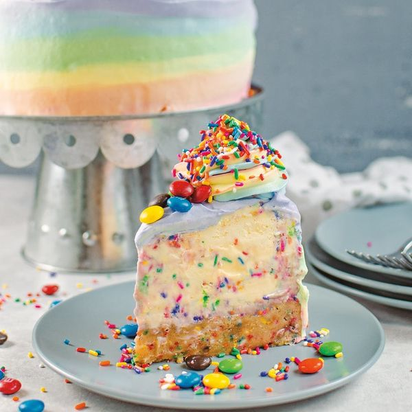 You'll Want to Dive Headfirst into This Rainbow Funfetti Ice Cream Cake