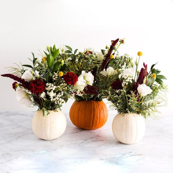 These Pumpkin Vases Are the Instagram-Worthy Thanksgiving Decor You've Been Looking For