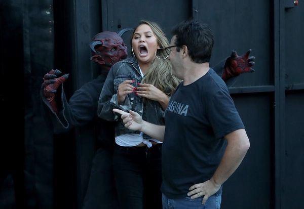 Ellen DeGeneres Sent Chrissy Teigen and Andy Lassner Through a Haunted House and It Was Hilarious