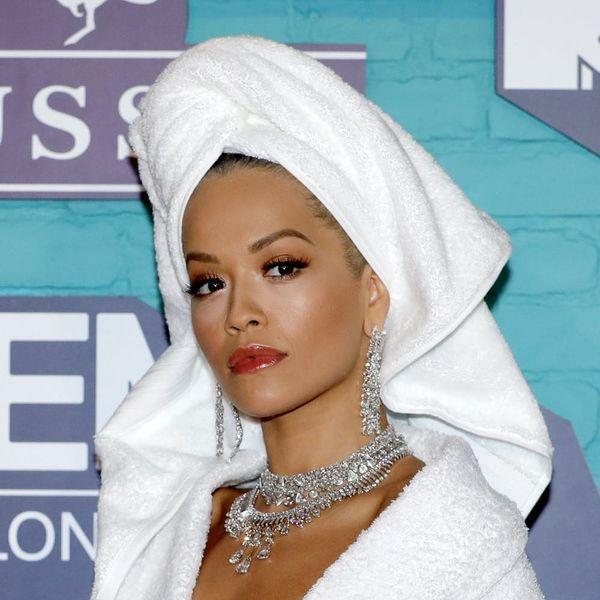 Rita Ora Wore a Bathrobe to the 2017 MTV EMA Awards