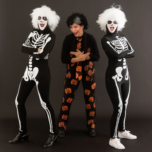 Get Your Funky DIY on With This David S. Pumpkins Group Halloween Costume