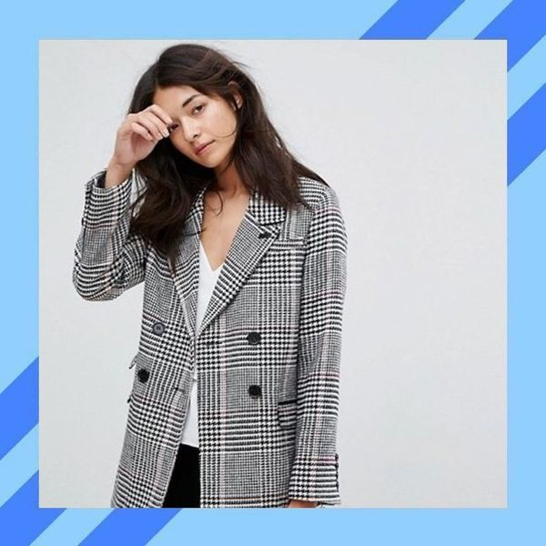 A Brief History of the Oversized Plaid Blazer That's Everywhere Right Now