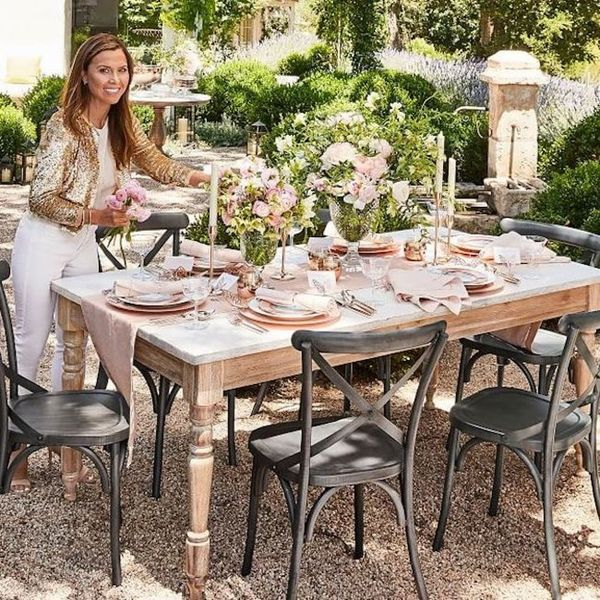 Monique Lhuillier's Pottery Barn Collection Is Blush, Gold, and Gorgeous All Over