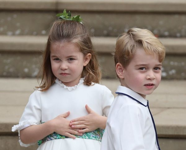 The Cutest Photos of Prince George and Princess Charlotte at Princess Eugenie's Wedding