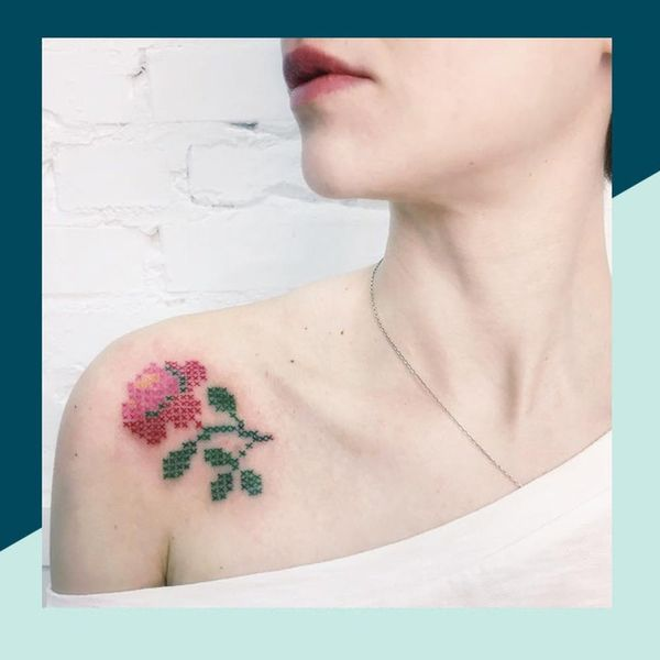 13 Embroidery Tattoos That Would Make Even Grandma Happy