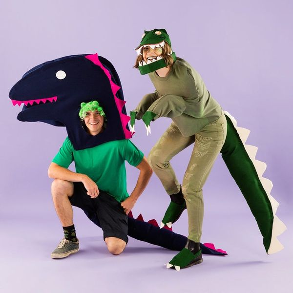 Win Halloween With This Adorably Fierce DIY T-Rex Dinosaur Costume