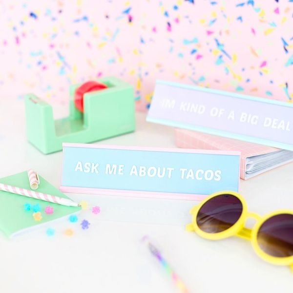 Desk Nameplates, Disco Ball Vases, and More Stylish Weekend Crafts