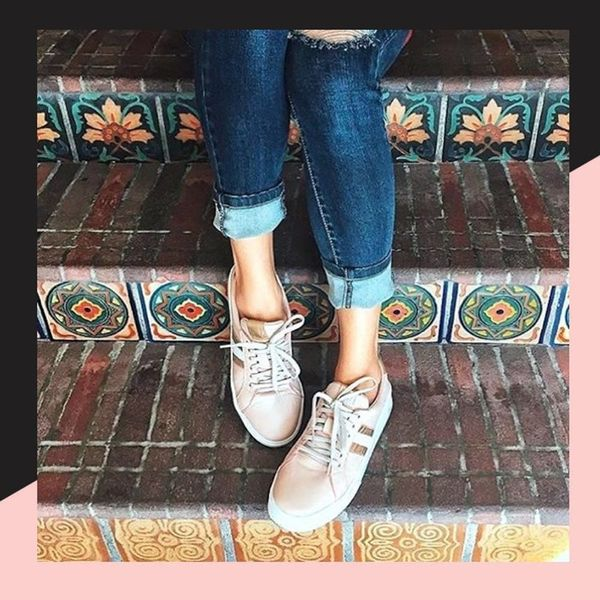 It's Official: Everyone's Obsessed With Rose Gold Sneakers