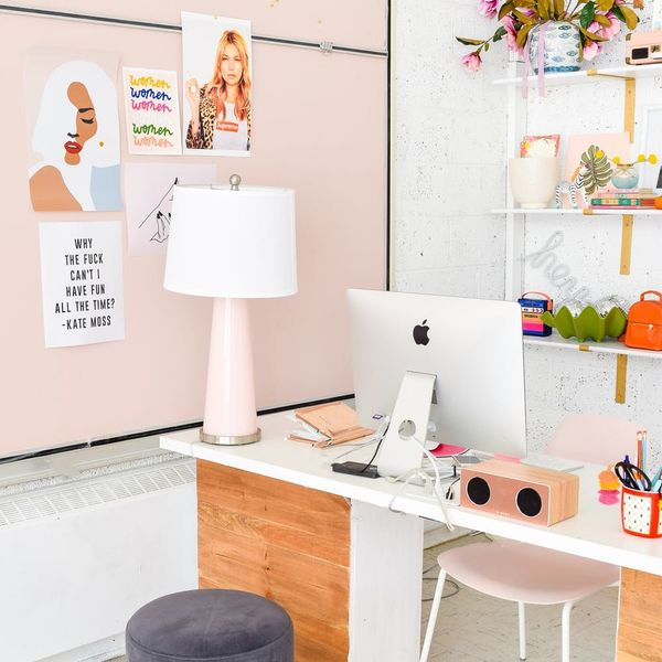 This Feminist Office Makeover Is Badass, Beautiful, and Blush All Over