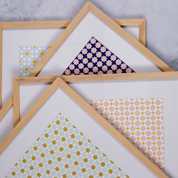These Moroccan Tile-Inspired Prints Are Exactly What Your Gallery Wall Is Missing