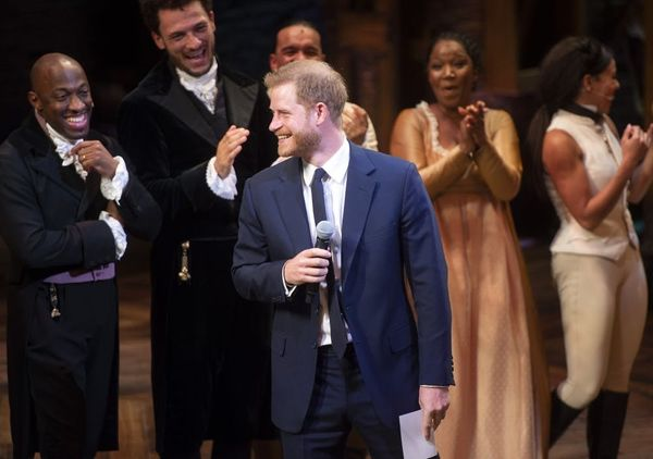 Prince Harry Sang a Line from 'You'll Be Back' Onstage at 'Hamilton' and Stole the Show