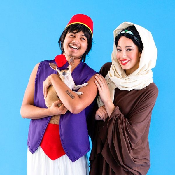 Grab Your BAEs and Explore the World Together in These Jasmine, Aladdin and Abu Costumes