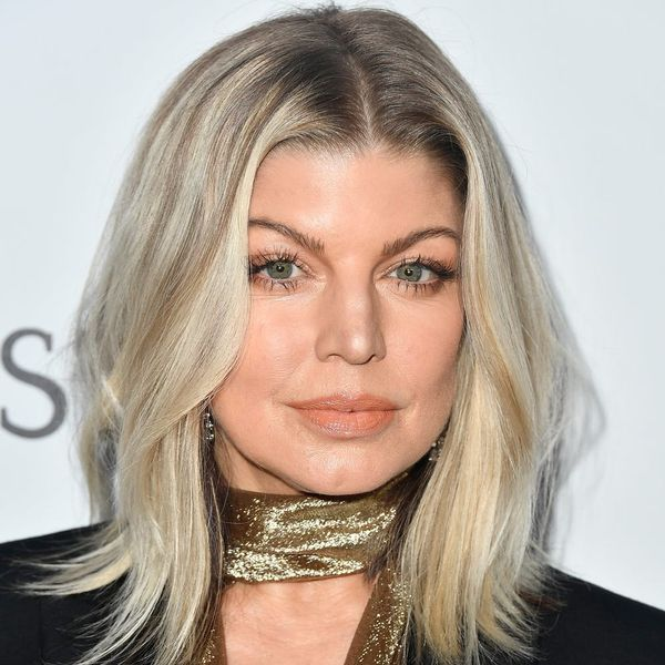 Fergie Hops Aboard the Silver Platinum Hair Train