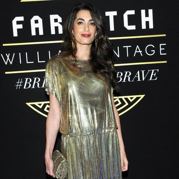 Here's Where You Can Cop Amal Clooney's Shimmery Gold Sandals
