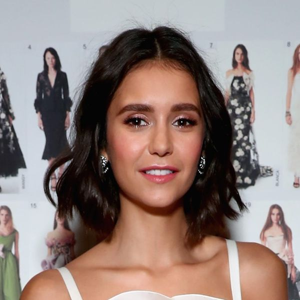 """Nina Dobrev Just Introduced the World to a Brand New Hairstyle Called the """"Nob"""""""