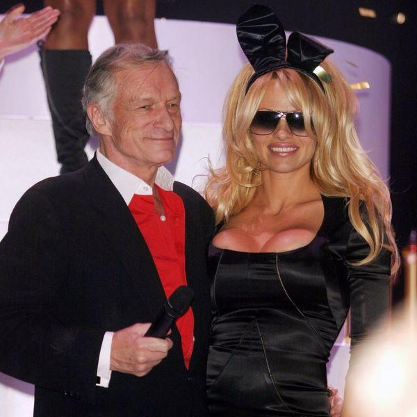 Pamela Anderson Cries in a Moving Tribute to Playboy's Hugh Hefner