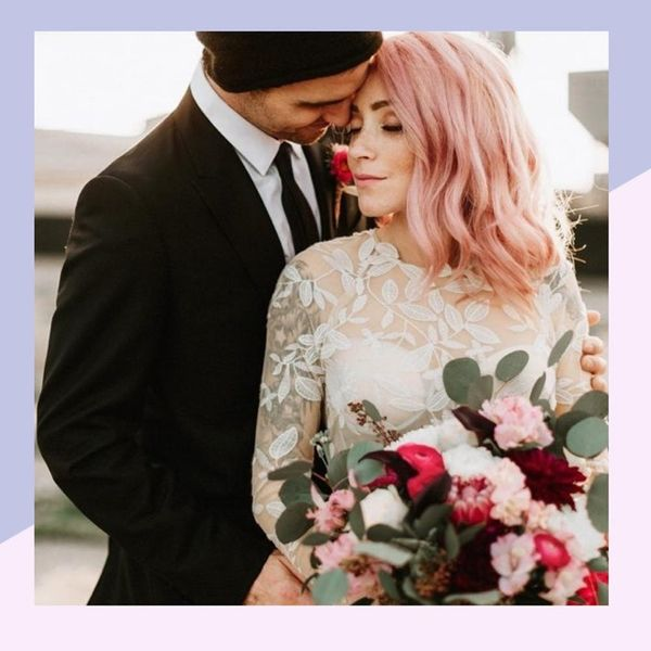 8 Ways to Rock Bold Hair Color Down the Aisle
