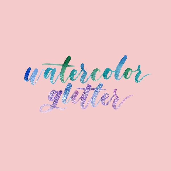 How to Create a Watercolor Glitter Effect in Photoshop