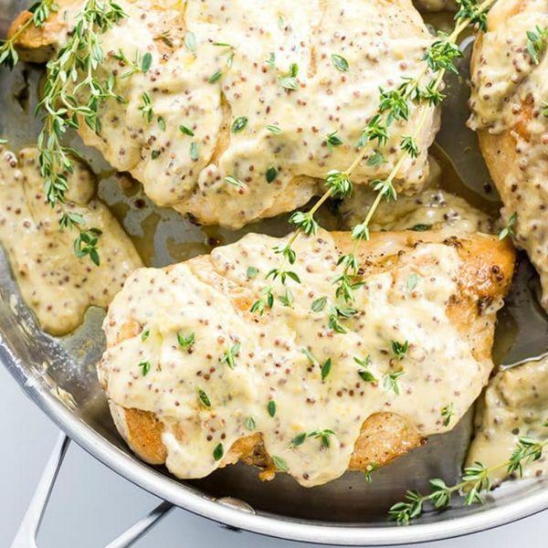 Chicken Breast With Mustard Cream Sauce