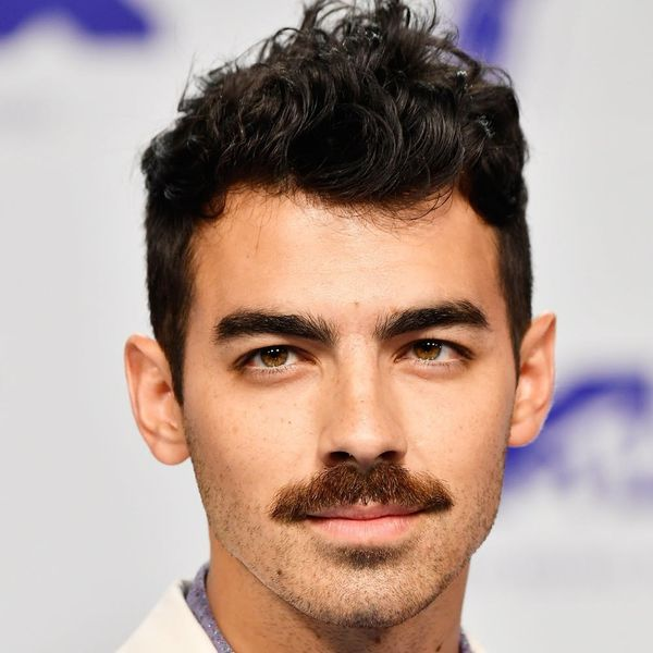 Joe Jonas Just Debuted a Massive Mustache at the 2017 MTV VMAs and Twitter Is Freaking. Out.
