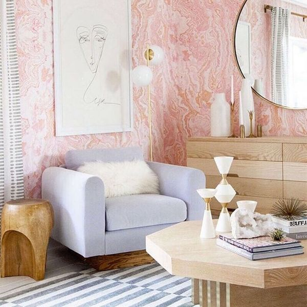 This Glam Guest Bedroom Makeover Will Have You Reaching for Millennial Pink Everything