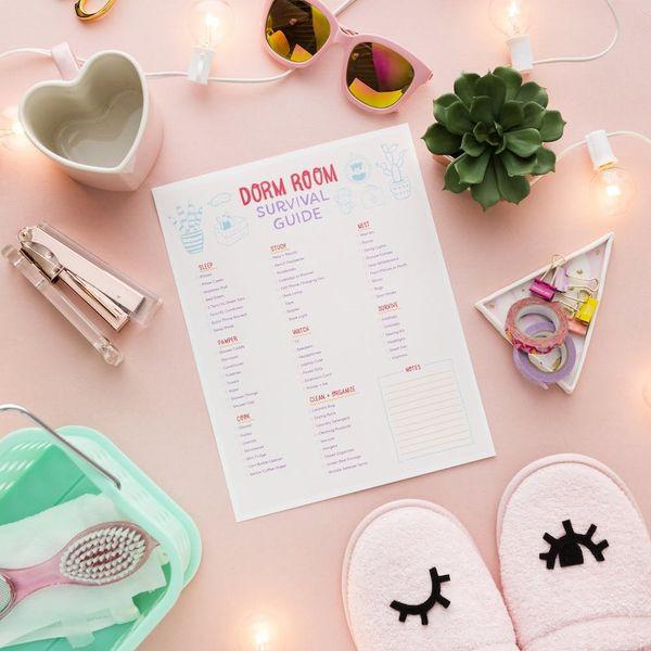 Print This Dorm Room Checklist to Survive College