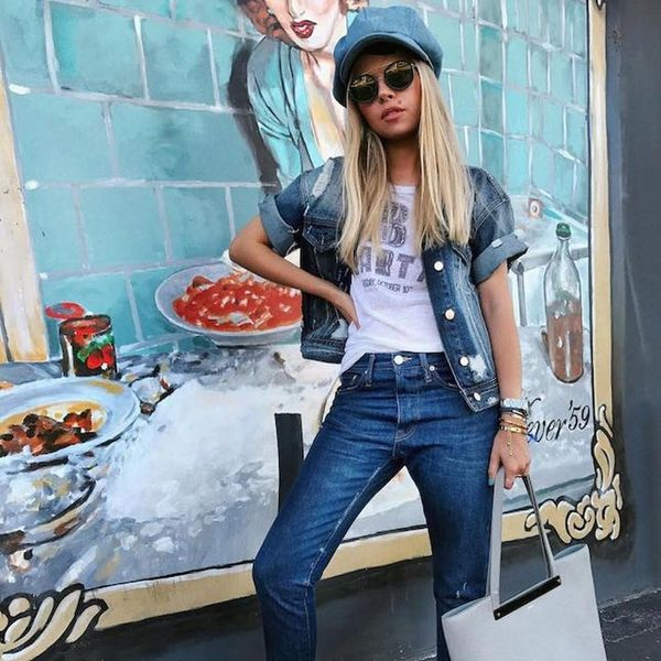 A Street Style Guide to Wearing Denim With Denim
