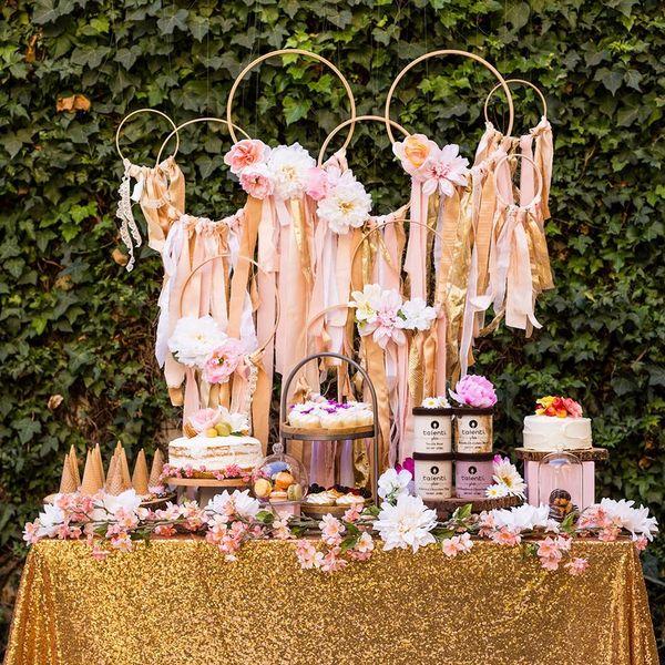 How to Put Together a Dessert Bar for Your Dreamy Boho Bridal Shower