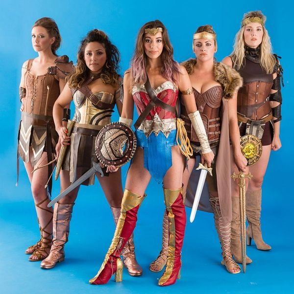 Grab Your Gang and DIY This Epic Wonder Woman Costume for Halloween