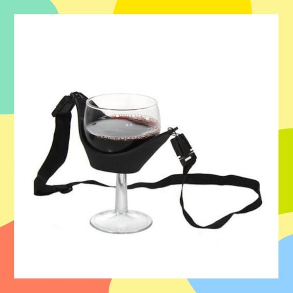 This Necklace Will Hold Your Wine Glass for You